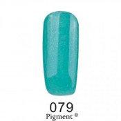 Гель-лак Фокс 079 приглушенный бирюзовый с микроблеском (F.O.X Pigment) 6 мл