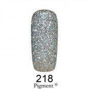 Гель-лак Фокс 218 плотный серебряный глиттер (F.O.X Pigment) 6 мл