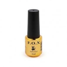 Каучуковый топ F.O.X Rubber Top No Wipe 6 мл без липкого слоя, топовое покрытие для ногтей