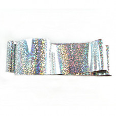Фольга для литья на ногтях Enjoy серебро голограмма конфетти
