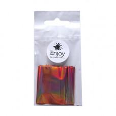 Фольга для литья на ногтях Enjoy розовое золото голограмма