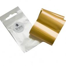 Фольга для литья на ногтях Enjoy золотой песок