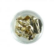 Фольга для декора сусальное золото светлое золото 05