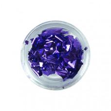 Фольга сусальное золото для декора фиолетовая