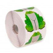 Формы для наращивания ногтей зеленый листок 100 шт.