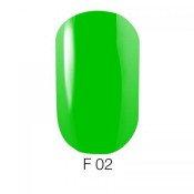Гель-лак GO Fluo 02 5,8 мл ярко-зеленый