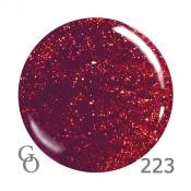 Гель-лак GO 223 5,8 мл темно-красный с блестками 5,8 мл