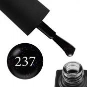 Гель-лак GO 237 5,8 мл черный с переливающимися блестками