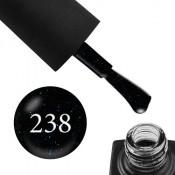 Гель-лак GO 238 5,8 мл серо-черный с сине-бирюзовыми блестками