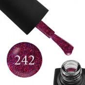 Гель-лак GO 242 5,8 мл фиолетовый, с малиновыми блестками