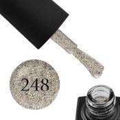 Гель-лак GO 248 5,8 мл белое золото, с голографическими блестками, слюдой и шиммерами