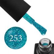 Гель-лак GO 253 5,8 мл бирюзовый, с голографическими блестками