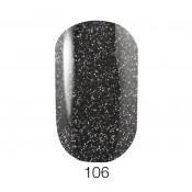 Гель-лак GO 106 5,8 мл голубой асфальтово-серый, с цветными шиммерами