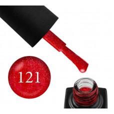 Гель-лак GO 121 5,8 мл вишневый с шиммерами плотный