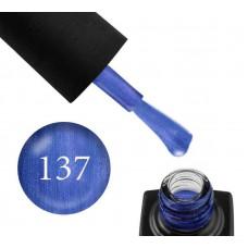 Гель-лак GO 137 5,8 мл синий деним, с перламутром и шиммерами, плотный