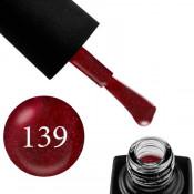 Гель-лак GO 139 5,8 мл темно-бордовый, с шиммером