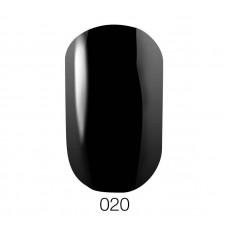 Гель-лак GO 020 5,8 мл черный эмалевый