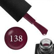 Гель-лак GO 138 5,8 мл вишневый с шиммерами, плотный