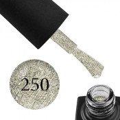 Гель-лак GO 250 5,8 мл платиново-серебристый, с шиммерами, блестками и слюдой