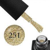 Гель-лак GO 251 5,8 мл желтое золото, с блестками, шиммерами и слюдой