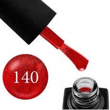Гель-лак GO 140 5,8 мл красный с шиммером