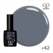 Гель-лак Go Active 042 Серый 10 мл