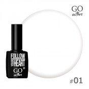 Гель-лак Go Active 001 Белый 10 мл