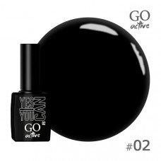 Гель-лак Go Active 002 Чёрный 10 мл