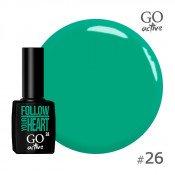 Гель-лак Go Active 026 Ярко-зеленая мята 10 мл