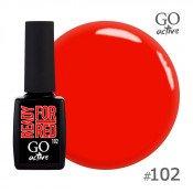 Гель-лак Go Active 102 Оранжево-красный 10 мл