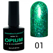 Гель-лак Innovative in Passion Opium Diamond 01 Зелёный