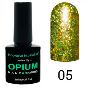 Гель-лак Innovative in Passion Opium Diamond 05 Золотистый
