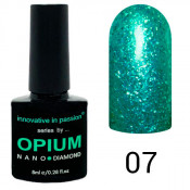 Гель-лак Innovative in Passion Opium Diamond 07 Бирюзовый