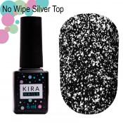 Топ с серебром без липкого слоя Kira Nails silver non wipe top 6 мл