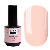 French rubber base Kira Nails 002 нежно-персиковая 15 мл