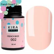 French rubber base Kira Nails 002 нежно-персиковая 30 мл