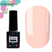 French rubber base Kira Nails 002 нежно-персиковая 6 мл