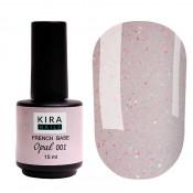 French Base Opal Kira Nails 001 (опал) 15 мл