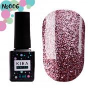 Гель-лак Kira Nails 24 Karat 006 розовое золото с блестками 6 мл