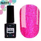 Гель-лак Kira Nails 24 Karat 009 розовый с блёстками 6 мл