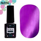 Гель-лак Kira Nails Cat Eye 006 фиолетовый 6 мл
