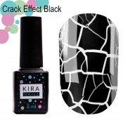 Гель-лак Kira Nails Crack Effect Black 001 чёрный для кракелюра 6 мл