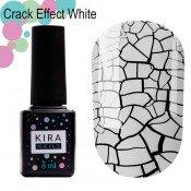 Гель-лак Kira Nails Crack Effect White 001 белый для кракелюра 6 мл
