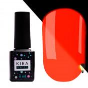 Гель-лак Kira Nails FLUO 001 оранжевый флуоресцентный 6 мл