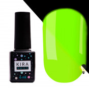 Гель-лак Kira Nails FLUO 003 жёлтый флуоресцентный 6 мл