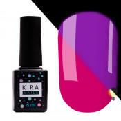 Гель-лак Kira Nails FLUO 008 ягодный флуоресцентный 6 мл