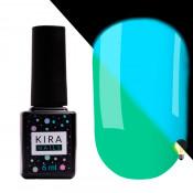 Гель-лак Kira Nails FLUO 011 мятный флуоресцентный 6 мл
