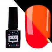 Гель-лак Kira Nails FLUO 007 морковно-красный флуоресцентный 6 мл