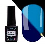 Гель-лак Kira Nails FLUO 010 синий флуоресцентный 6 мл