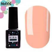 Гель-лак Kira Nails 006 розово-персиковый для френча 6 мл